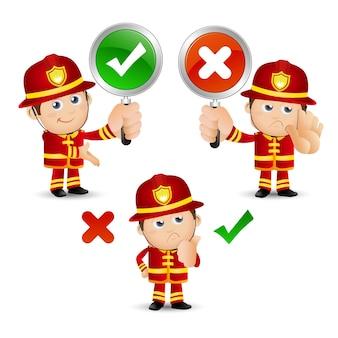 La gente ha fissato il pompiere di professione