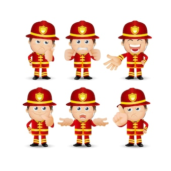 Persone impostate professione pompiere