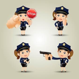 La gente ha fissato il poliziotto di professione