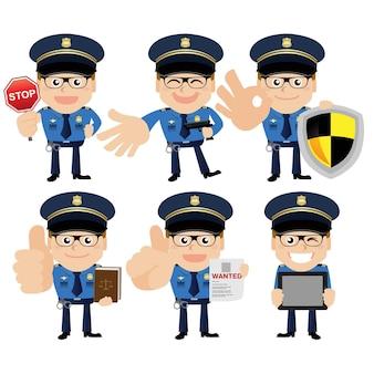 Persone impostate professione poliziotto