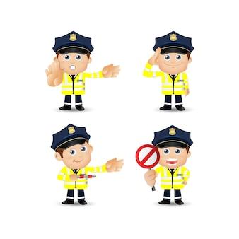 La gente ha fissato il poliziotto del traffico di professione