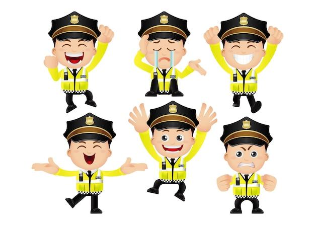 Persone impostate professione poliziotto stradale