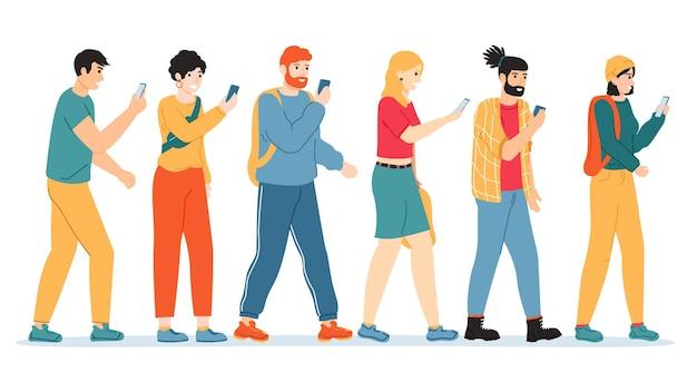 Persone dipendenza da smartphone