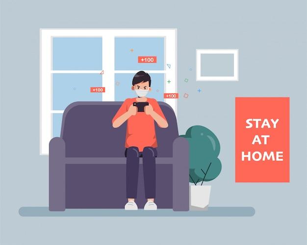 La gente rimane a casa per evitare di diffondere il coronavirus covid-19.
