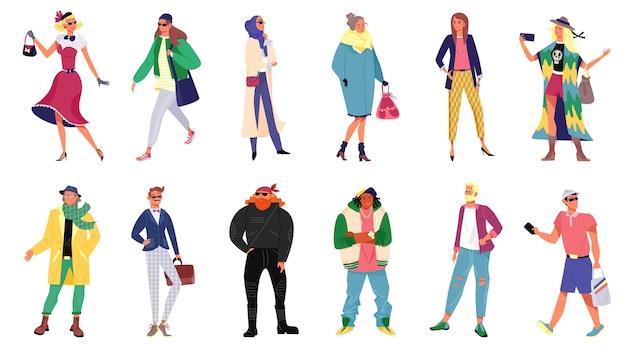 Persone nella collezione di abiti eleganti