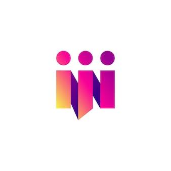 La gente parla chat conferenza squadra famiglia nastro stile gradiente logo icona vettore illustrazione