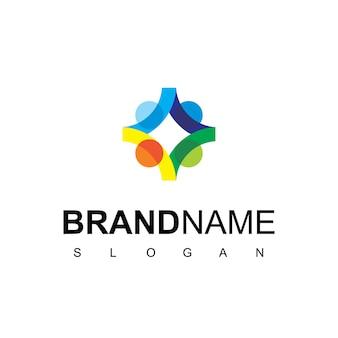 Persone team logo design vector