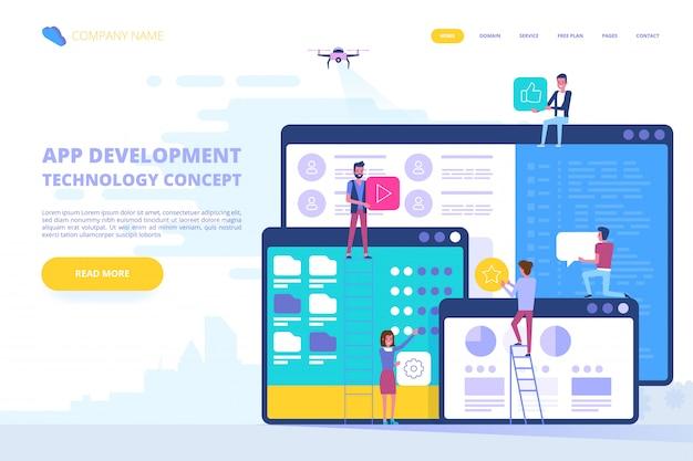 Il team di persone lavora insieme nel settore web