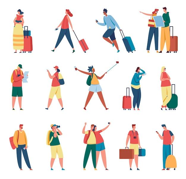 Illustrazione di persone che viaggiano