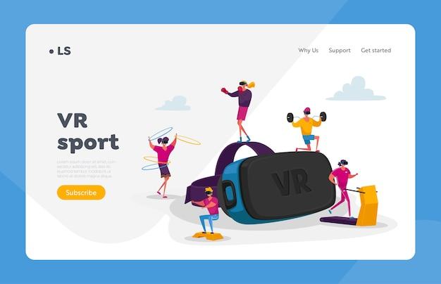 Le persone usano la tecnologia della realtà virtuale per l'allenamento sportivo