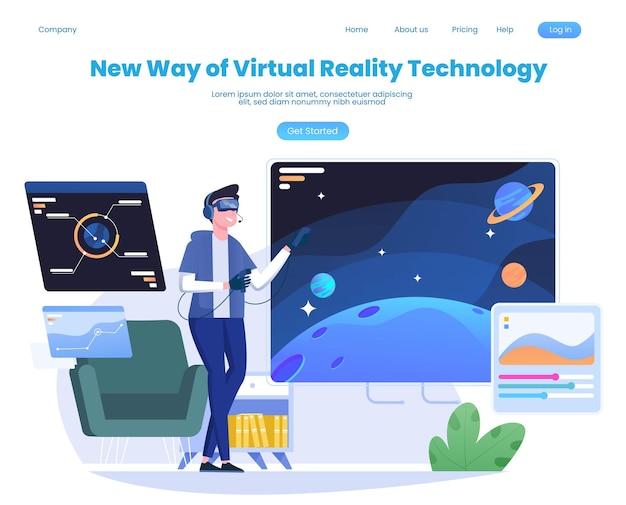 Persone che utilizzano occhiali per realtà virtuale mentre giocano a giochi visualizzati sul grande schermo