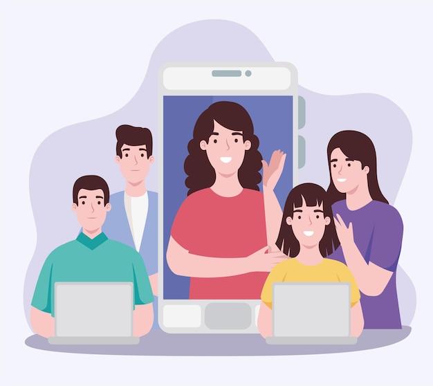 Persone nella comunicazione virtuale