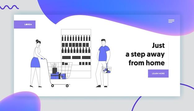 Persone che visitano la pagina di destinazione del supermercato
