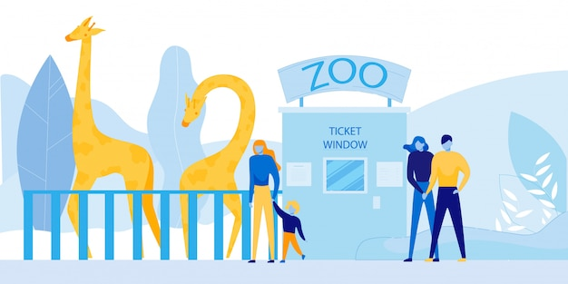 Persone che visitano lo zoo con animali selvaggi africani