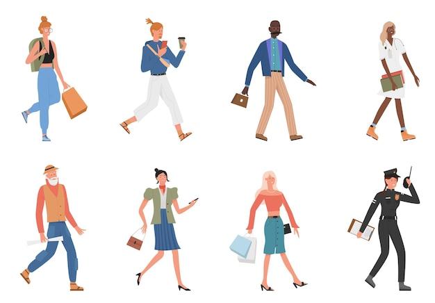 La gente cammina insieme dell'illustrazione