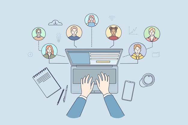 Persone con competenze ed esperienze diverse che si connettono insieme
