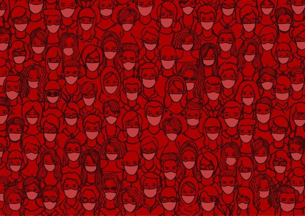 Persone con maschera