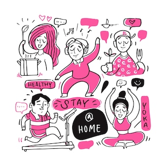 Le persone con stare a casa.