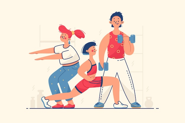 Le persone lavorano sull'illustrazione del corpo