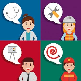 Carta di professione lavoratore di persone