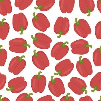 Peper seamless pattern isolati su sfondo bianco