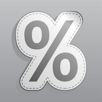 Icona dell'autoadesivo di percentuale
