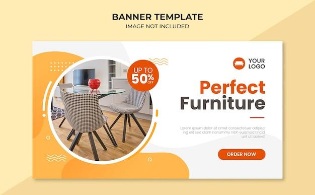 Modello di banner web perfetto per mobili