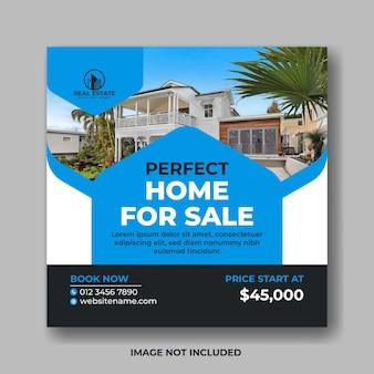 Casa perfetta in vendita modello di progettazione di post sui social media immobiliari