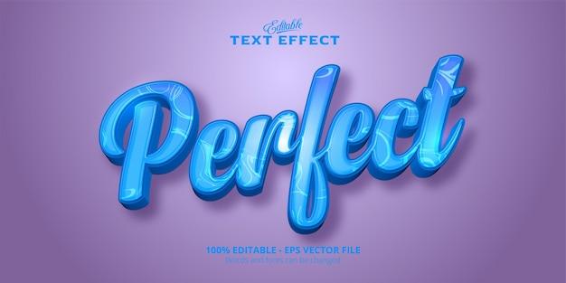 Perfetto effetto di testo modificabile del testo