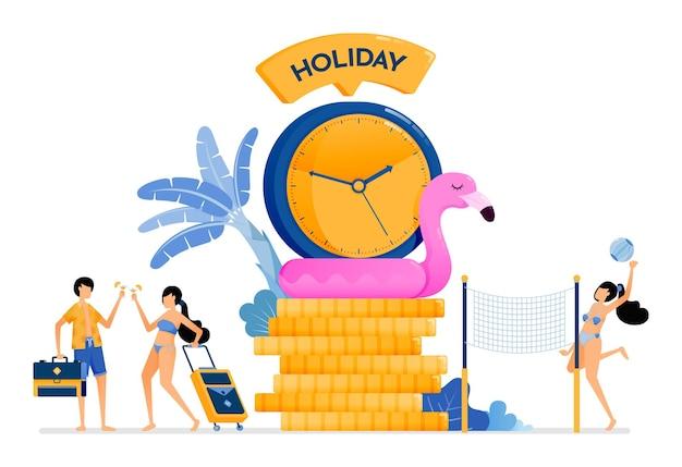 Tempo di vacanza perfetto durante l'estate