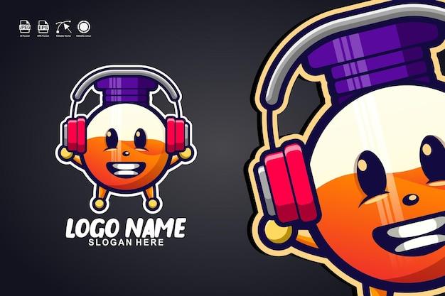 Bottiglia di profumo musica simpatico personaggio mascotte logo design
