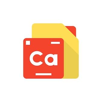 Logo dell'elemento tavola periodica. concetto di composti, applicazione creativa, studio dell'universo, formula unica, protone, natura. stile piatto tendenza logotipo moderno design illustrazione vettoriale su sfondo bianco