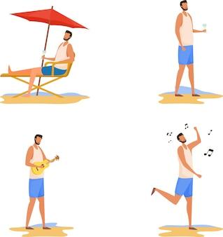 Persona sulla spiaggia