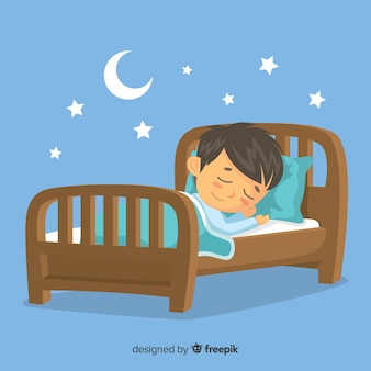 Persona che dorme Vettore Premium