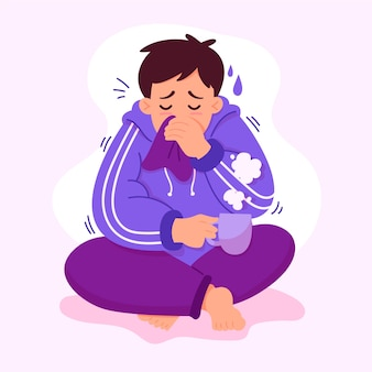 Una persona con il raffreddore