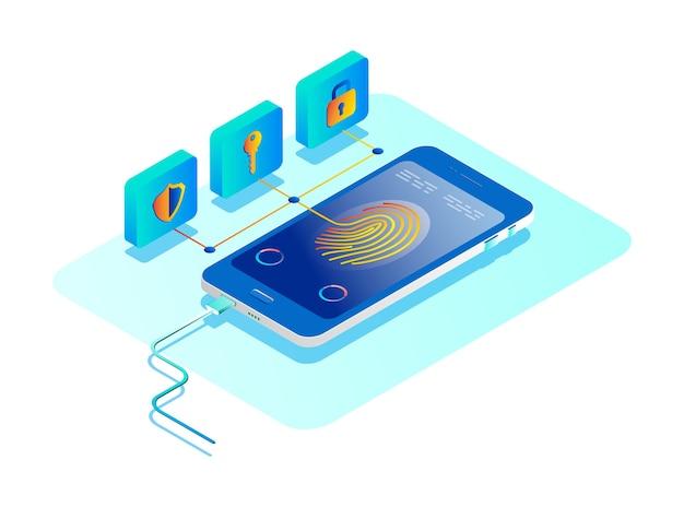 Concetto di protezione dei dati personali. concetto di sicurezza online.