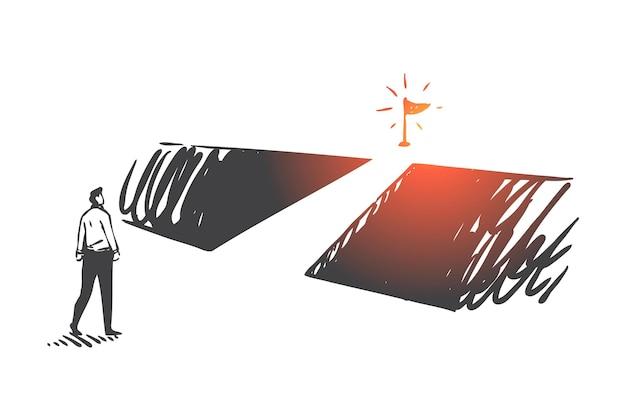 Sviluppo personale, motivazione aziendale, illustrazione del concetto di leadership