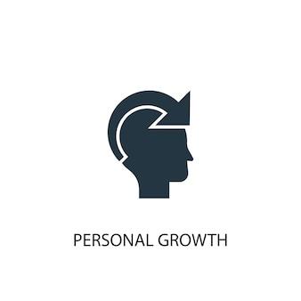 Icona di crescita personale. illustrazione semplice dell'elemento. disegno di simbolo del concetto di crescita personale. può essere utilizzato per web e mobile.