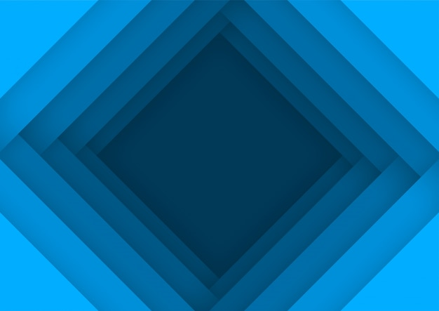Prospettiva cornice blu sullo sfondo