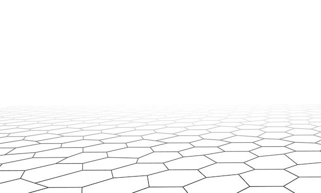 Fondo esagonale di poli basso di prospettiva. design elegante per gli sfondi.