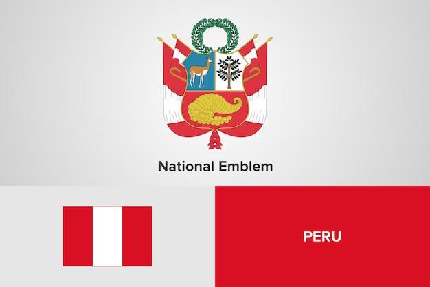 Modello di bandiera nazionale dell'emblema del perù