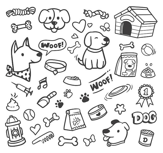 Scarabocchio di cibo per cani
