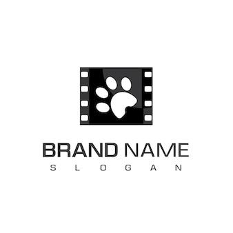 Modello di logo del film per animali domestici