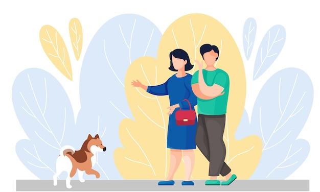 I proprietari di animali domestici trascorrono del tempo con il loro cane