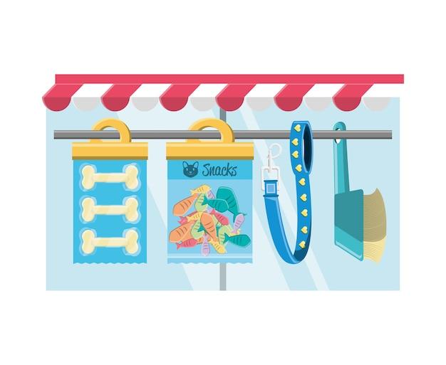 Icone degli accessori del negozio di animali