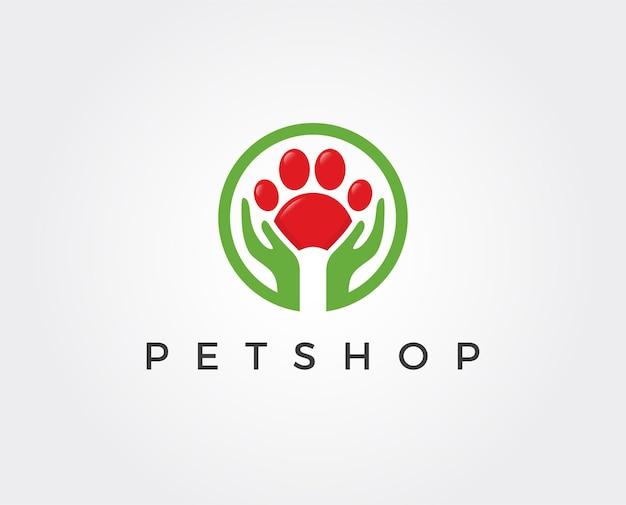 Targhetta logo del negozio di animali