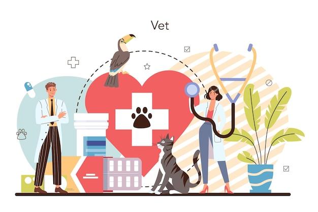 Concetto di veterinario per animali domestici