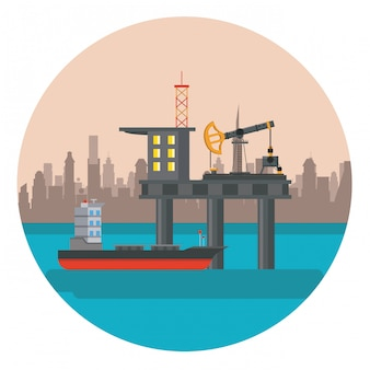 Piattaforma petrolifera di mare