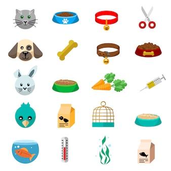 Animali domestici illustrazione piatta