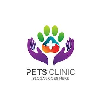 Design del logo per la cura degli animali domestici